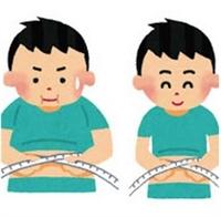 太った男性痩せた男性